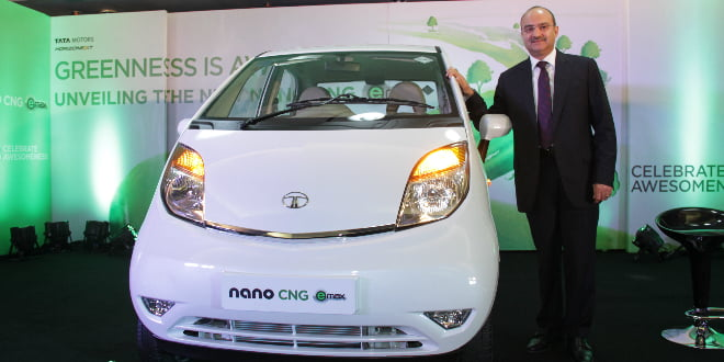 2014 Tata Nano CNG eMax Featured Image