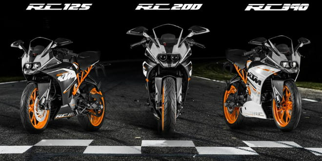 KTM RC Series Supersport Bikes To Be Built And Sold In India