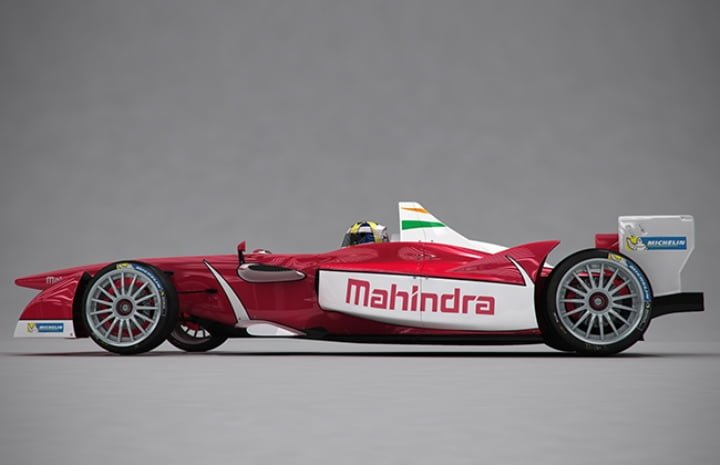 Mahindra Racing Formaula E Car Left Side Profile