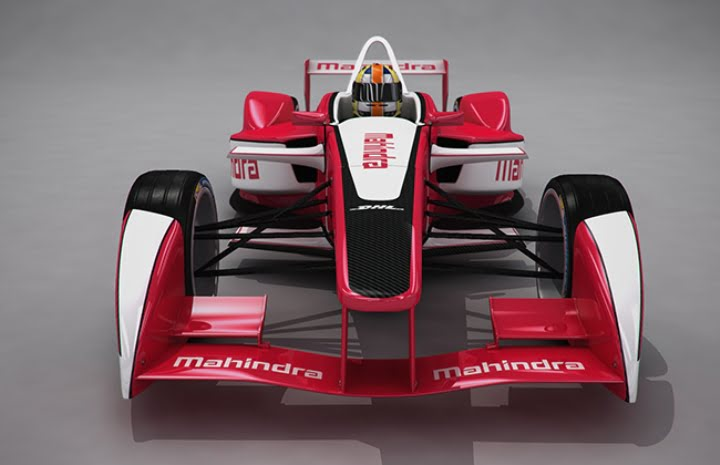 Mahindra Racing Formaula E Car Front