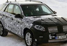 2015 Mercedes-Benz M-Class Spy Shot Featured Image