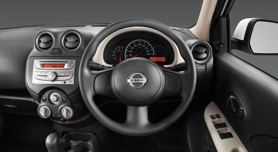 Nissan Micra Active Interior Steering Wheel Carblogindia