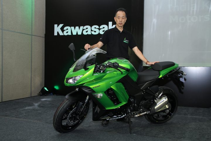Yuji Horiuchi, Managing Director (L) - India Kawasaki Motors Pvt Ltd launching Ninja 1000
