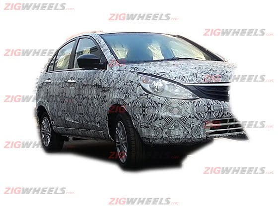 Tata Manza Compact Sedan Spy Shot Front Left Quarter