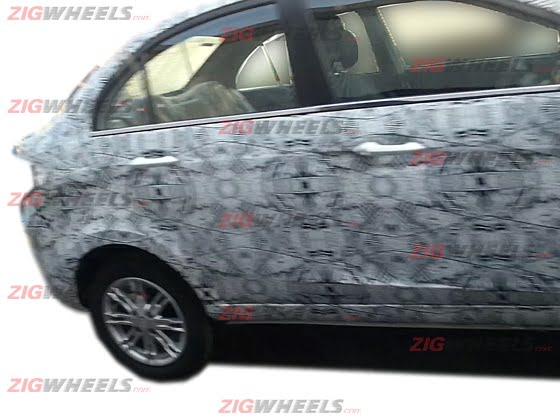 Tata Manza Compact Sedan Spy Shot Side Rear Profile
