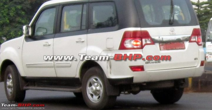 Tata Movus Spy Shot Rear Left Quarter