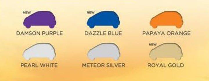 Tata Nano Twist Paint Options