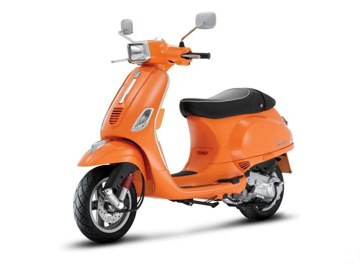 Vespa Sport India Orange Colour