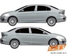 2014 Maruti Suzuki Ciaz Patent Photos Left and Right Side Profiles