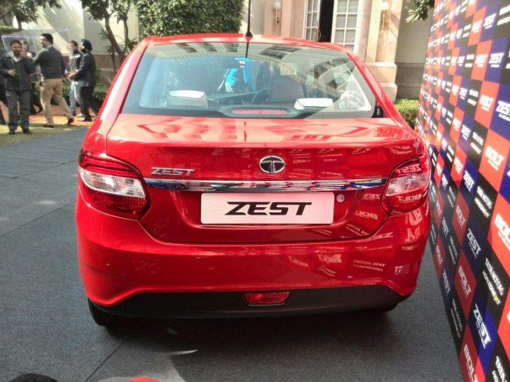 2014 Tata Zest Rear