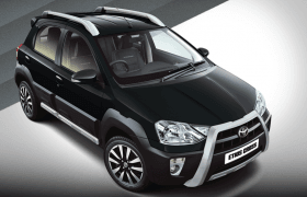 2014 Toyota Etios Cross Celestial Black Paint