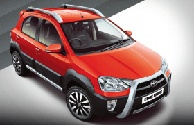 2014 Toyota Etios Cross Inferno Orange Paint