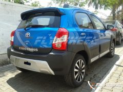 2014 Toyota Etios Cross Spy Shot Rear Right Quarter