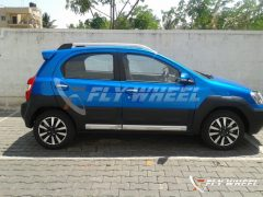 2014 Toyota Etios Cross Spy Shot Right Side Profile
