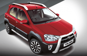 2014 Toyota Etios Cross Vermilion Red Paint