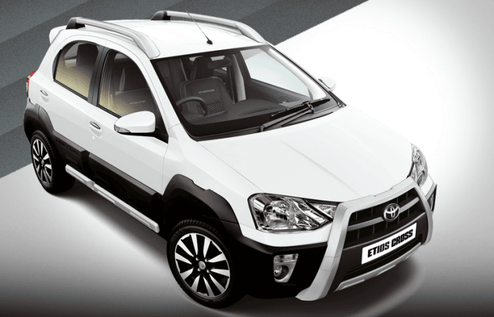 2014 Toyota Etios Cross White Paint