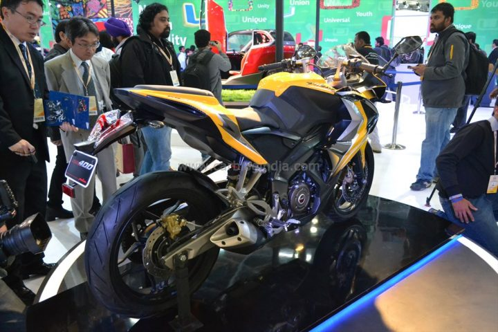 2014 Bajaj Pulsar RS400 SS Rear Right Quarter