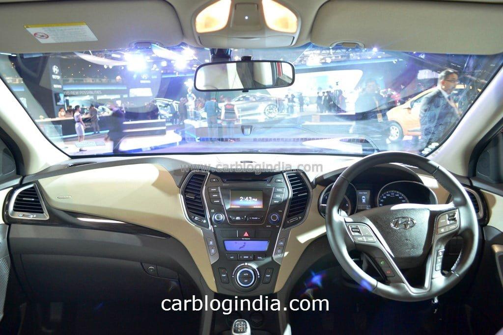 2014 Hyundai Santa Fe Interior Dashboard Carblogindia