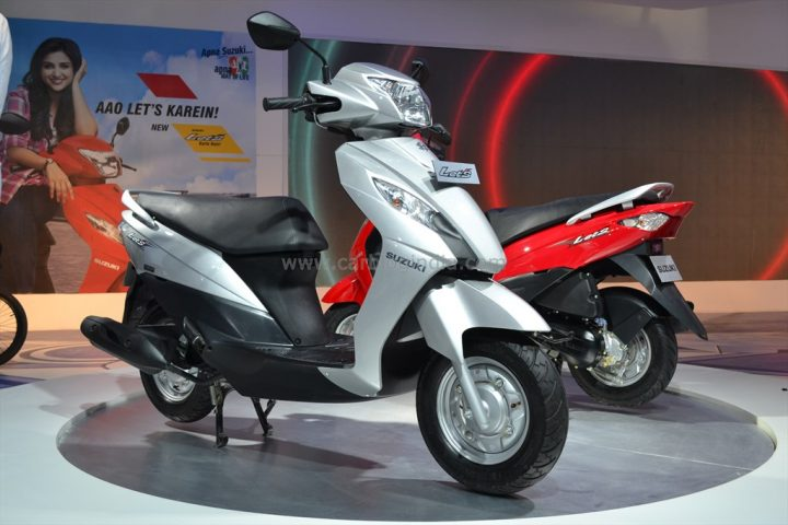 2014 Suzuki Let's Front Right Quarter and Rear Left