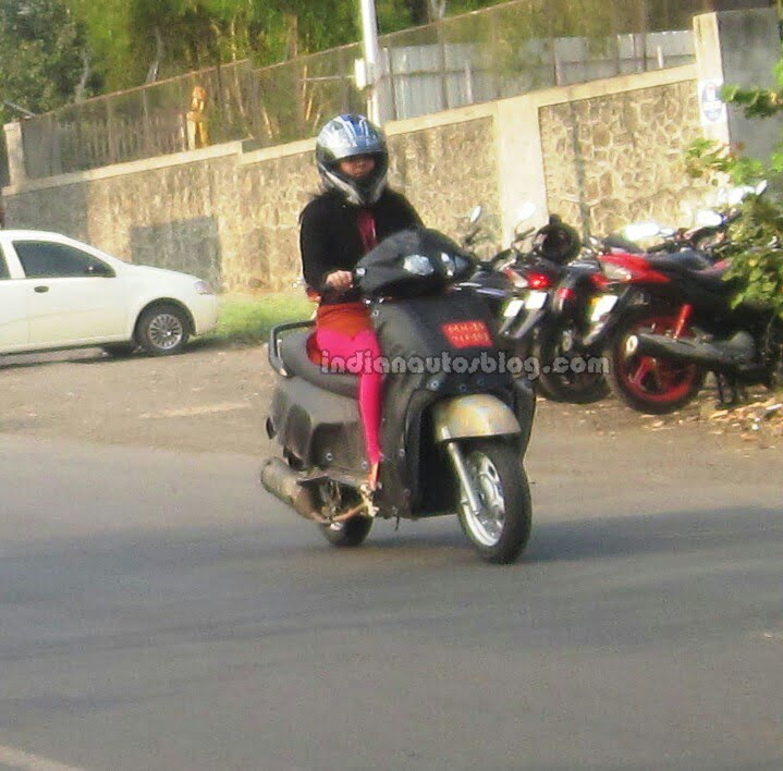 Mahindra 110cc Scooter Spy Shot Front