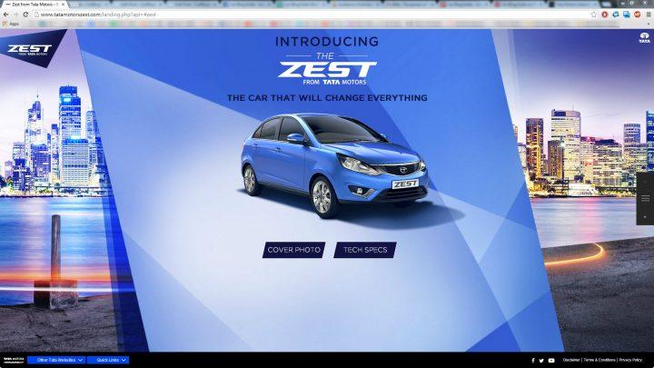 Tata Zest Website