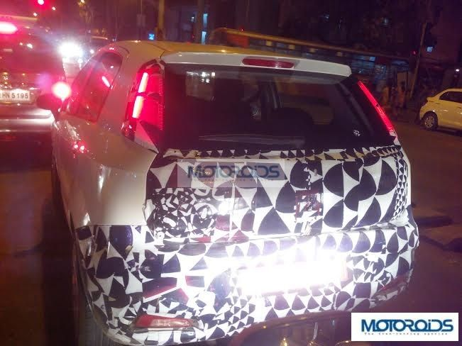 2014 Fiat Punto Facelift Spy Shot Rear Left