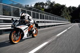 2014 KTM RC 390 Front Left Quarter