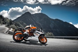 2014 KTM RC 390 Right Side Leaning