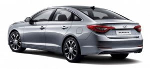 2015 Hyundai Sonata Rear Left Quarter