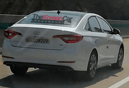 2015 Hyundai Sonata Spy Shot Rear Right Quarter