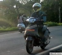 Mahindra 110cc Scooter Spy Shot Front Left Quarter