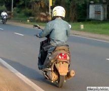 Mahindra 110cc Scooter Spy Shot Rear Left Quarter