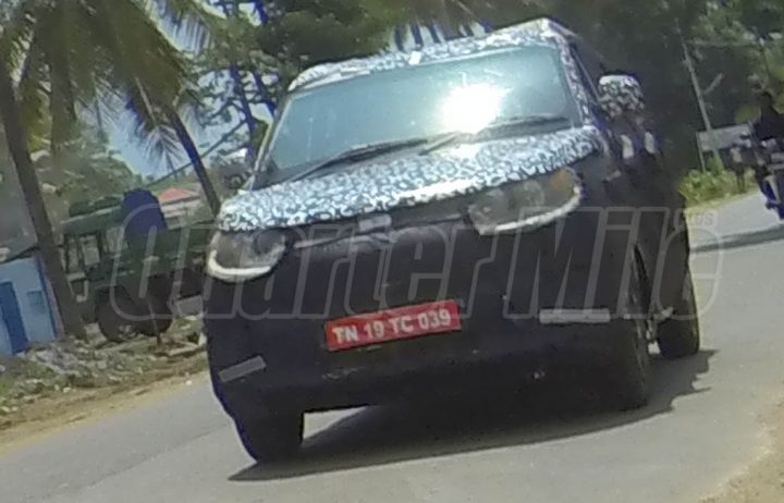 Mahindra S101 Spy Shot Front Left