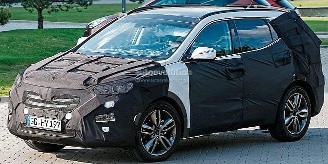 2015 Hyundai Santa Fe Facelift Spied