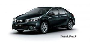 2014 Toyota Corolla Altis Celestial Black Paint