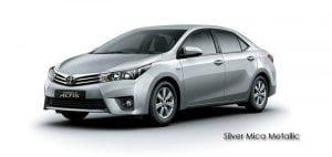 2014 Toyota Corolla Altis Silver Mica Metal Paint