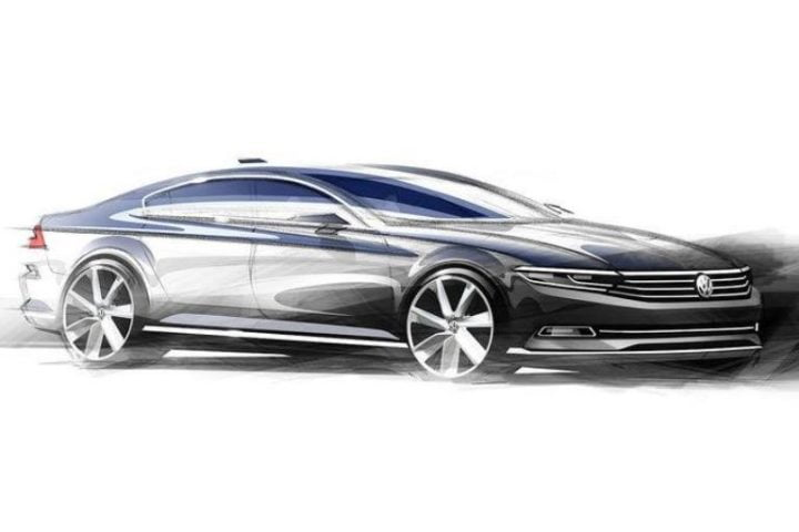 2015-VW-Passat-side-sketch