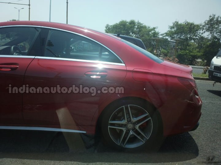 Mercedes-CLA-45-AMG-spied-in-India-rear