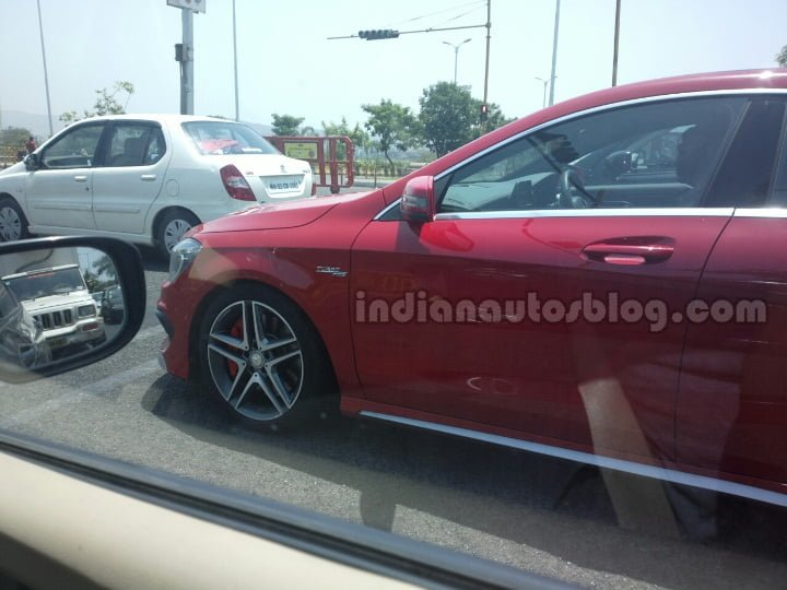 Mercedes-CLA-45-AMG-spied-in-India