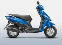 Suzuki Let's Metallic Triton Blue Paint