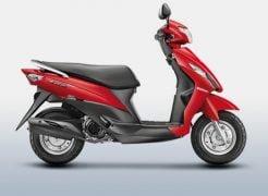 Suzuki Let's Pearl Mira Red Paint