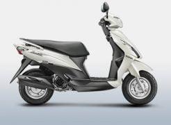 Suzuki Let's Pearl Mirage White Paint