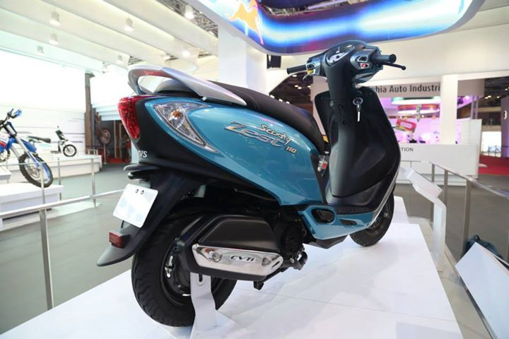 TVS Scooty Zest Rear Right Quarter