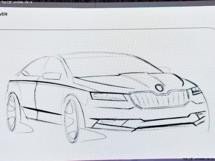 next-gen-Skoda-Superb-sketch