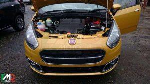 2014 Fiat Punto Facelift Spy Shot Front Engine Bay Open