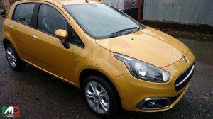 2014 Fiat Punto Facelift Spy Shot Front Right Quarter