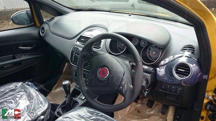 2014 Fiat Punto Facelift Spy Shot Interior Front Cabin
