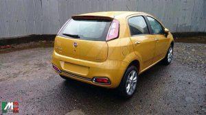 2014 Fiat Punto Facelift Spy Shot Rear Right Quarter