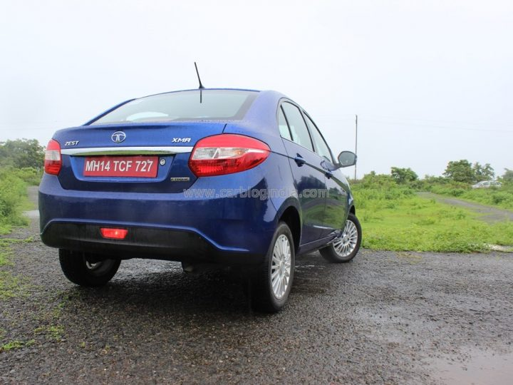 2014 Tata Zest Rear Right Quarter