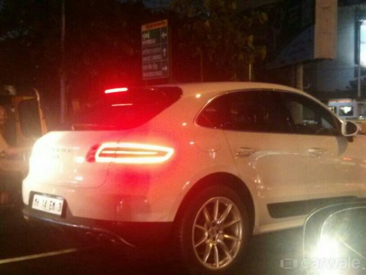 Porsche Macan Spy Shot Rear Right